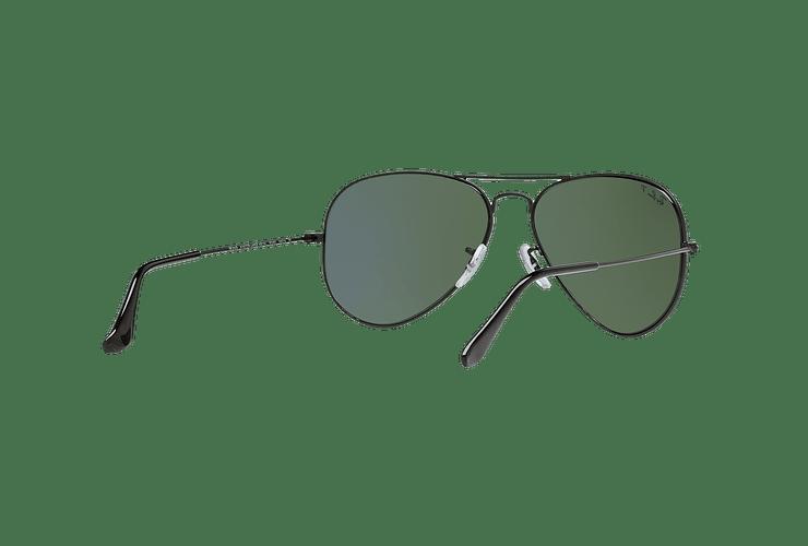 Ray Ban Aviador Matte Black lente Green Polarized cod. RB3025 W3361 58 - Image 7