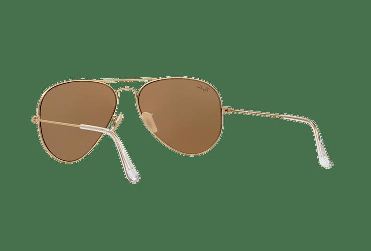 Ray-Ban Aviador Matte Gold lente Gold Mirror cod. RB3025 112/93 58 - Image 5
