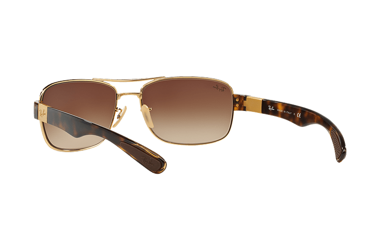 Ray Ban Active RB3522 Gold lente Brown Gradient cod. RB3522 001/13 61 - Image 5