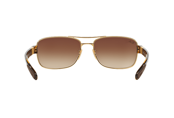 Ray Ban Active RB3522 Gold lente Brown Gradient cod. RB3522 001/13 61 - Image 6
