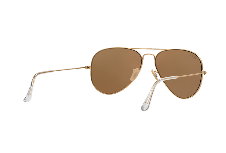 Ray-Ban Aviador Matte Gold lente Gold Mirror cod. RB3025 112/93 58 - Image 7