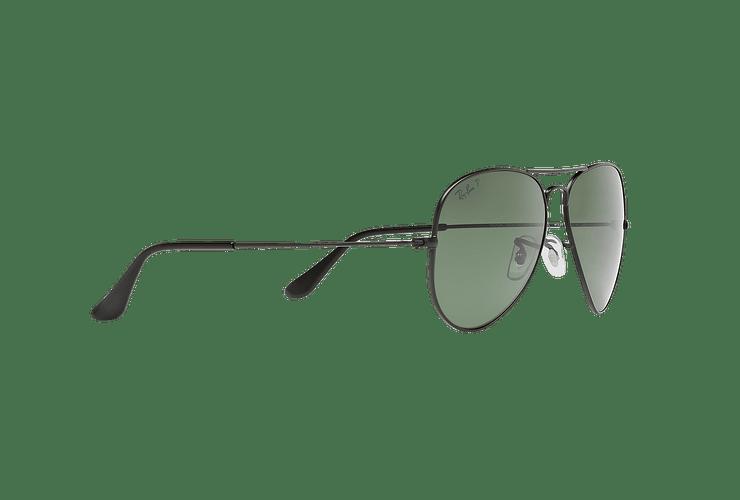 Ray Ban Aviador Matte Black lente Green Polarized cod. RB3025 W3361 58 - Image 10