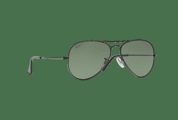 Ray Ban Aviador Matte Black lente Green Polarized cod. RB3025 W3361 58 - Image 11