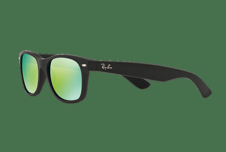 Ray-Ban New Wayfarer Rubber Black lente Green Mirror cod. RB2132 622/19 55 - Image 2