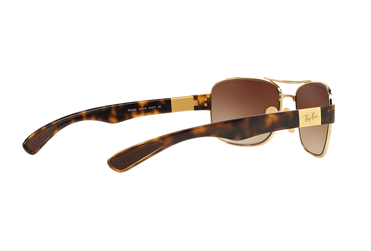 Ray Ban Active RB3522 Gold lente Brown Gradient cod. RB3522 001/13 61 - Image 8