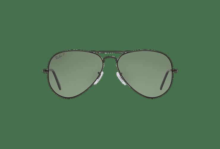 Ray Ban Aviador Matte Black lente Green Polarized cod. RB3025 W3361 58 - Image 12