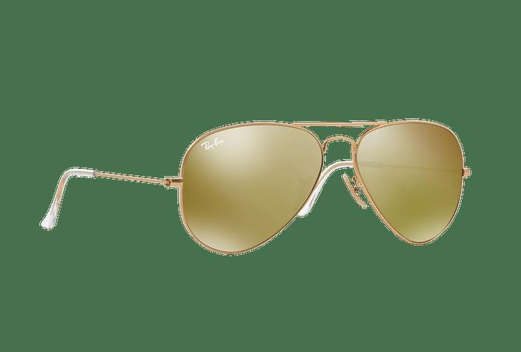 Ray-Ban Aviador Matte Gold lente Gold Mirror cod. RB3025 112/93 58 - Image 11