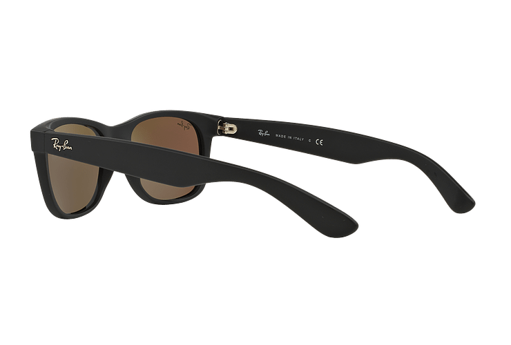 Ray-Ban New Wayfarer Rubber Black lente Green Mirror cod. RB2132 622/19 55 - Image 4