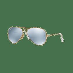 Ray Ban Aviador Matte Gold lente Silver Flash Polarized cod. RB3025 112/W3 58