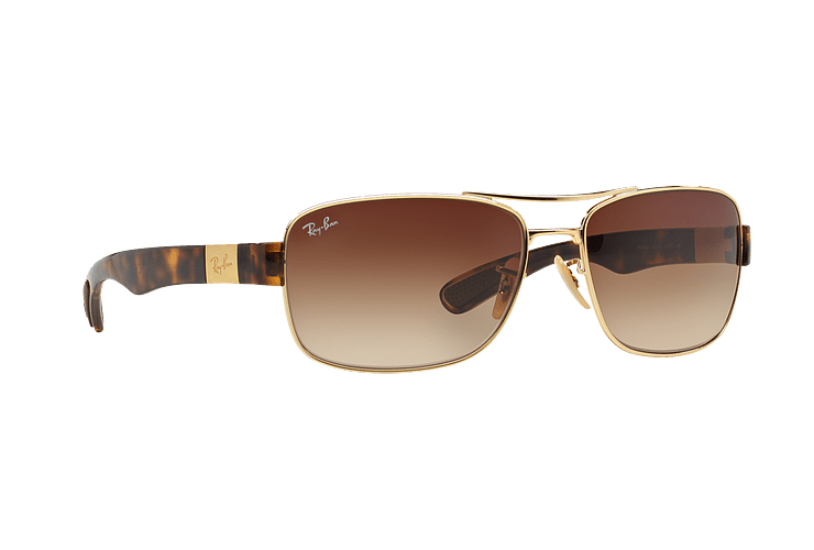 Ray Ban Active RB3522 Gold lente Brown Gradient cod. RB3522 001/13 61 - Image 11