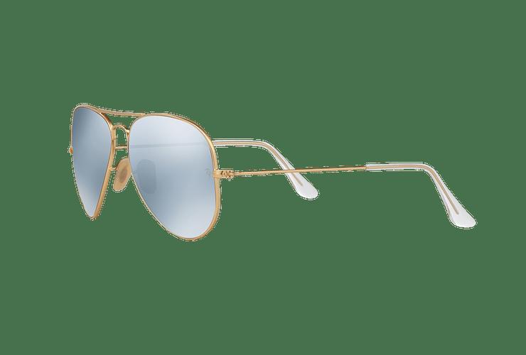 Ray Ban Aviador Matte Gold lente Silver Flash Polarized cod. RB3025 112/W3 58 - Image 2