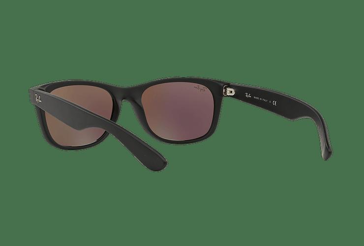 Ray Ban New Wayfarer Rubber Black lente Green Mirror cod. RB2132 622/19 55 - Image 5