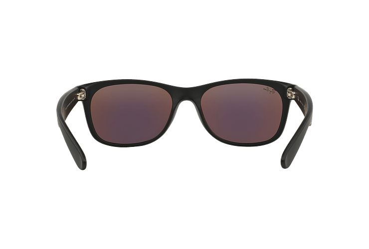 Ray Ban New Wayfarer Rubber Black lente Green Mirror cod. RB2132 622/19 55 - Image 6