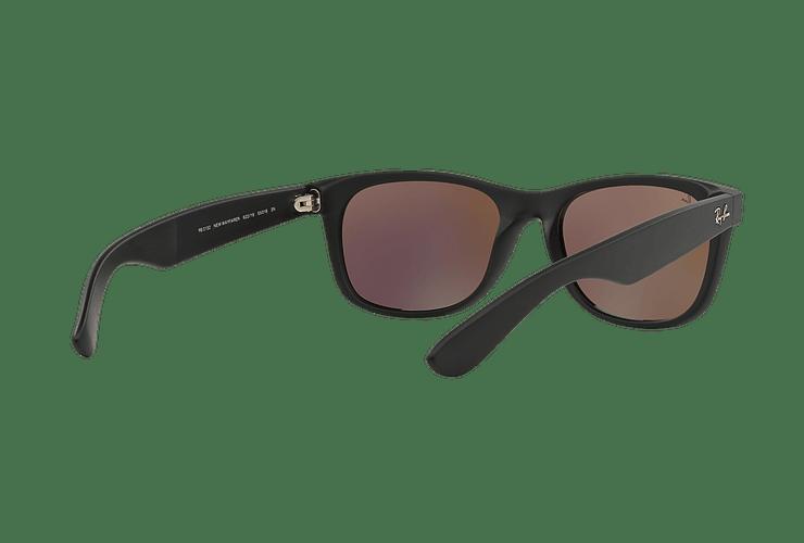 Ray Ban New Wayfarer Rubber Black lente Green Mirror cod. RB2132 622/19 55 - Image 7