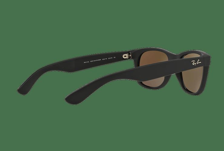 Ray Ban New Wayfarer Rubber Black lente Green Mirror cod. RB2132 622/19 55 - Image 8