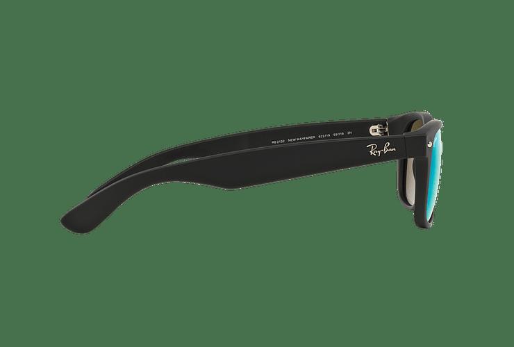 Ray Ban New Wayfarer Rubber Black lente Green Mirror cod. RB2132 622/19 55 - Image 9