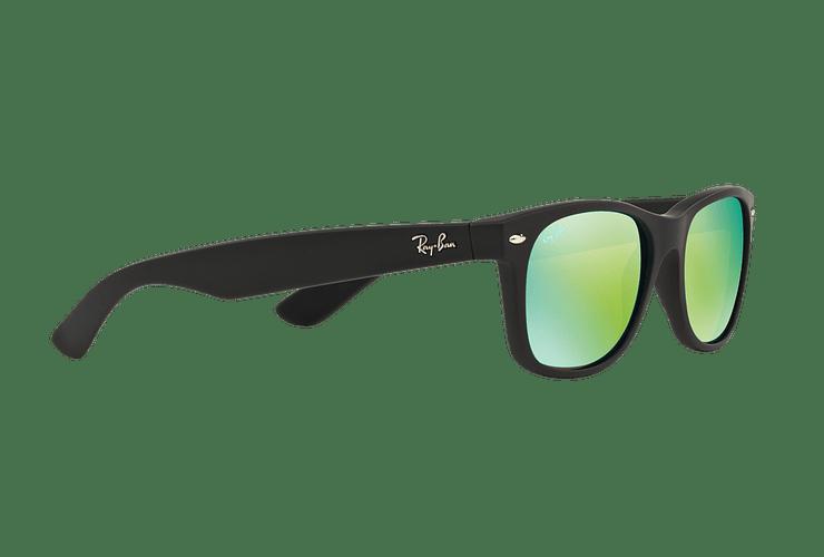 Ray Ban New Wayfarer Rubber Black lente Green Mirror cod. RB2132 622/19 55 - Image 10