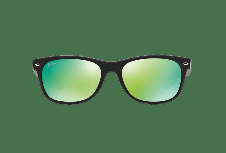 Ray Ban New Wayfarer Rubber Black lente Green Mirror cod. RB2132 622/19 55 - Image 12