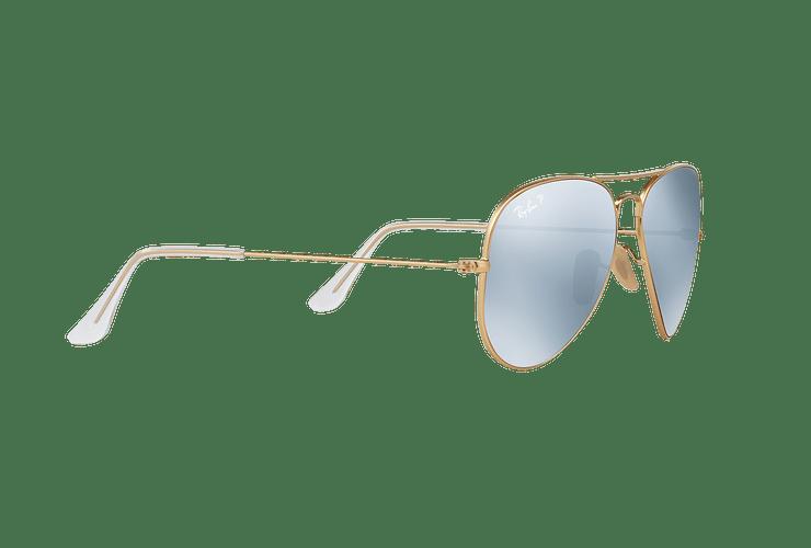Ray Ban Aviador Matte Gold lente Silver Flash Polarized cod. RB3025 112/W3 58 - Image 10