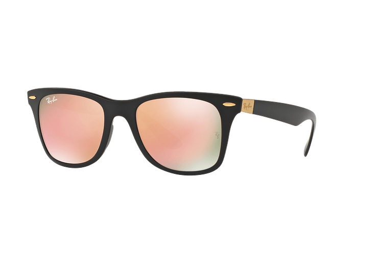 Ray Ban Wayfarer Liteforce Matte Black lente Copper Flash cod. RB4195 601S2Y 52 - Image 1