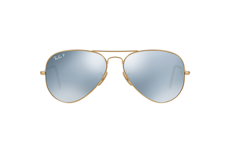 Ray Ban Aviador Matte Gold lente Silver Flash Polarized cod. RB3025 112/W3 58 - Image 12