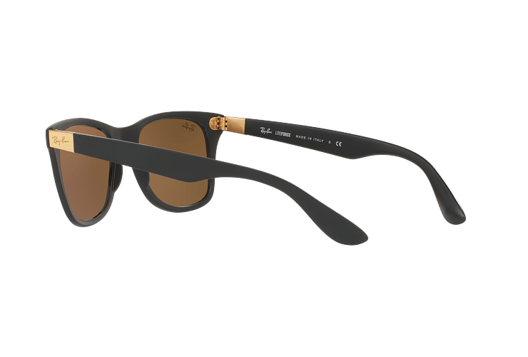 Ray Ban Wayfarer Liteforce Matte Black lente Copper Flash cod. RB4195 601S2Y 52 - Image 4