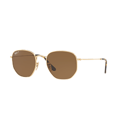 Ray-Ban Hexagonal Gold lente Brown Polarized cod. RB3548N 001/57 54