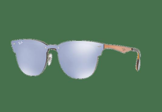 Ray Ban Blaze Clubmaster Brusched Copper lente Blue / Silver Mirror cod. RB3576N 90391U 47