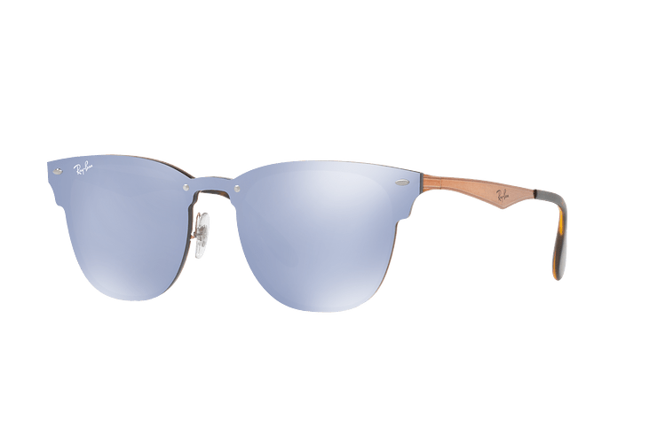 Ray Ban Blaze Clubmaster Brusched Copper lente Blue / Silver Mirror cod. RB3576N 90391U 47 - Image 1