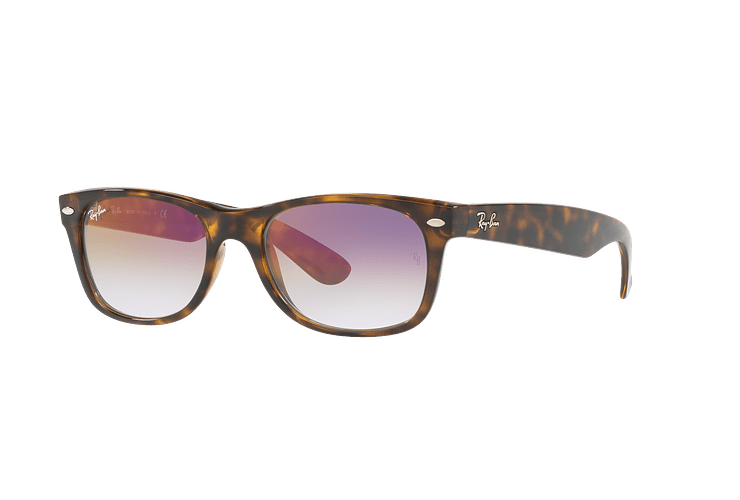 Ray Ban New Wayfarer Havana lente Clear Gradient Violet cod. RB2132 710/S5 55 - Image 1