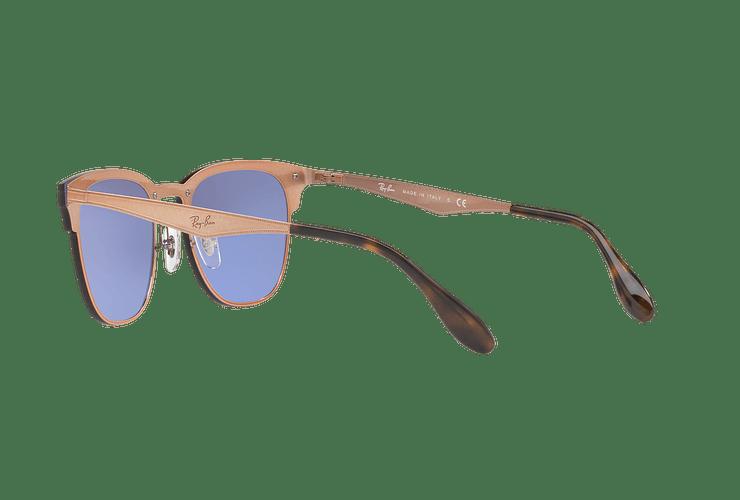 Ray Ban Blaze Clubmaster Brusched Copper lente Blue / Silver Mirror cod. RB3576N 90391U 47 - Image 4