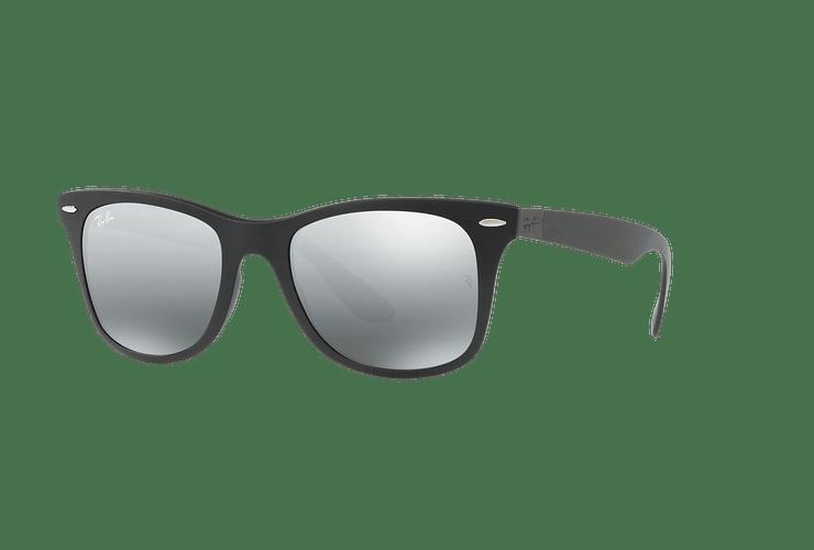 Ray Ban Wayfarer Liteforce Matte Black lente Silver Gradient Mirror cod. RB4195 601S88 52 - Image 1