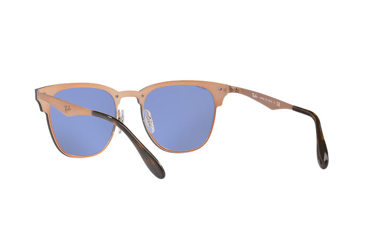 Ray Ban Blaze Clubmaster Brusched Copper lente Blue / Silver Mirror cod. RB3576N 90391U 47 - Image 5