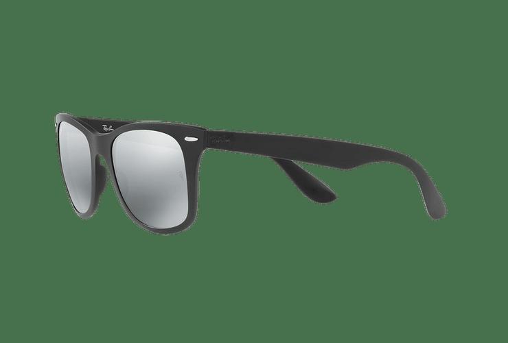 Ray Ban Wayfarer Liteforce Matte Black lente Silver Gradient Mirror cod. RB4195 601S88 52 - Image 2
