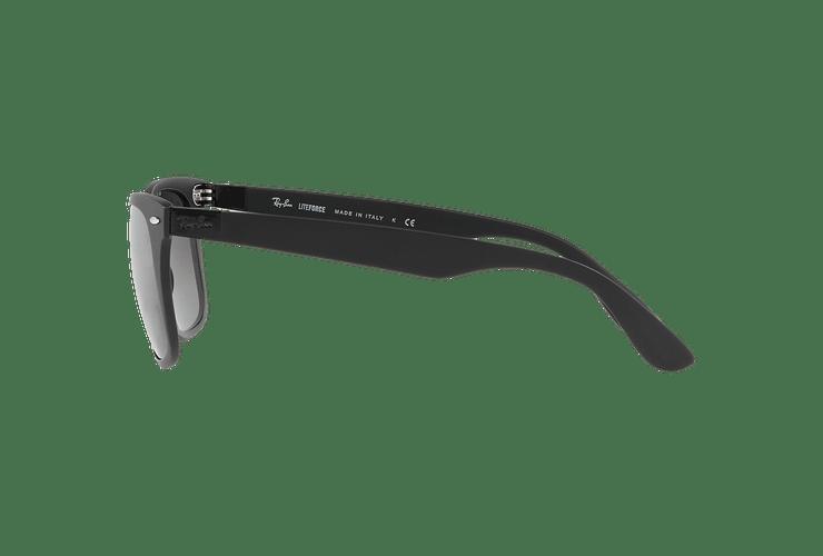 Ray Ban Wayfarer Liteforce Matte Black lente Silver Gradient Mirror cod. RB4195 601S88 52 - Image 3