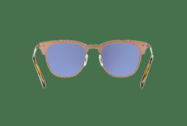 Ray Ban Blaze Clubmaster Brusched Copper lente Blue / Silver Mirror cod. RB3576N 90391U 47 - Image 6