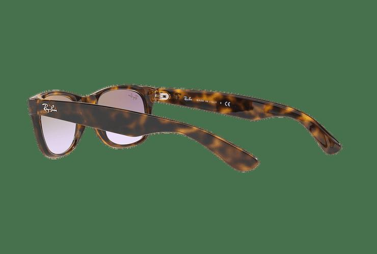 Ray Ban New Wayfarer Havana lente Clear Gradient Violet cod. RB2132 710/S5 55 - Image 4
