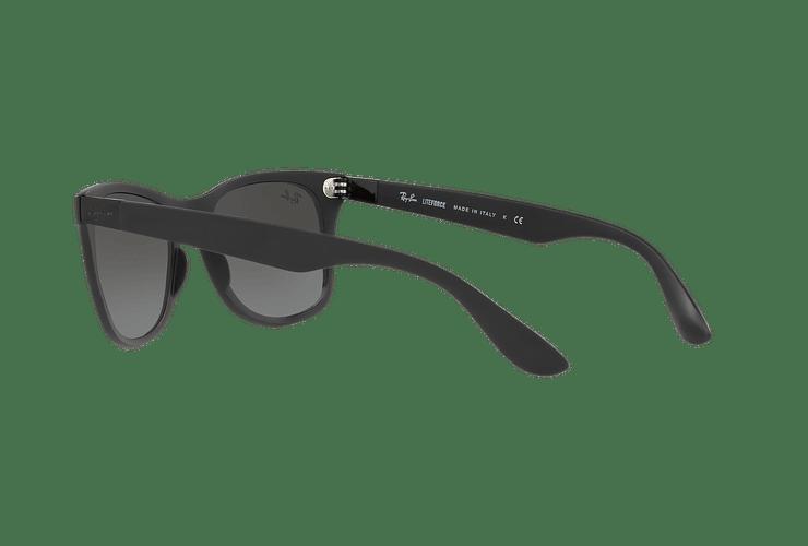 Ray Ban Wayfarer Liteforce Matte Black lente Silver Gradient Mirror cod. RB4195 601S88 52 - Image 4
