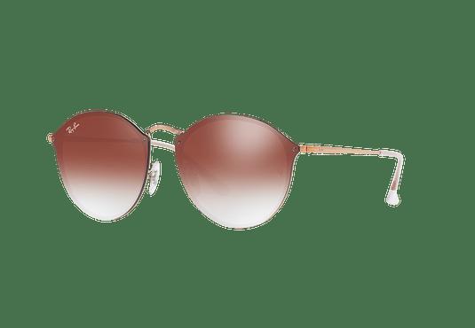 Ray Ban Blaze Round Copper lente Clear Gradient Red Mirror cod. RB3574N 9035V0 59