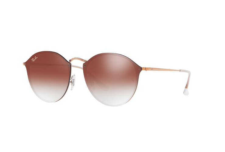 Ray Ban Blaze Round Copper lente Clear Gradient Red Mirror cod. RB3574N 9035V0 59 - Image 1