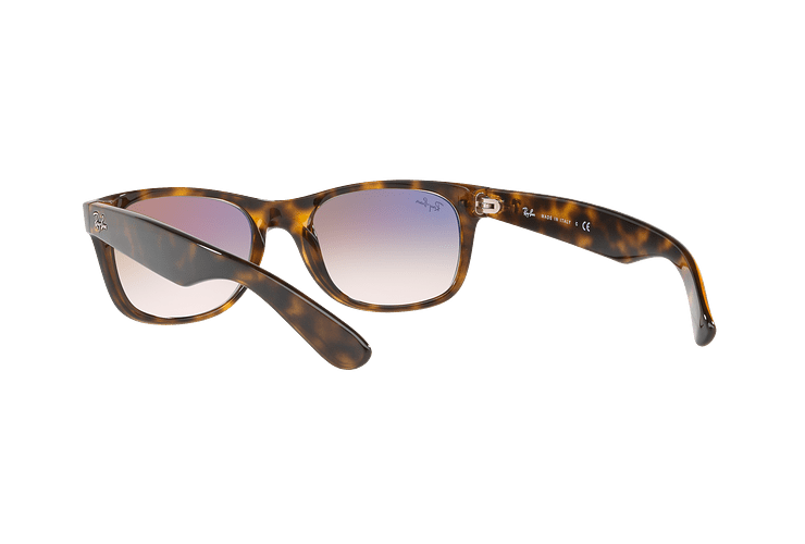 Ray Ban New Wayfarer Havana lente Clear Gradient Violet cod. RB2132 710/S5 55 - Image 5