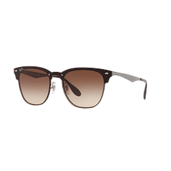 Ray Ban Blaze Clubmaster Gunmetal lente Brown Gradient cod. RB3576N 041/13 47