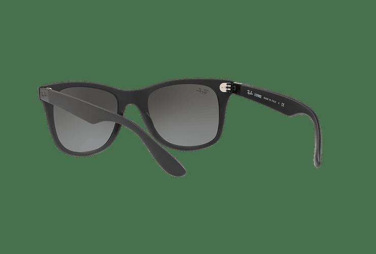 Ray Ban Wayfarer Liteforce Matte Black lente Silver Gradient Mirror cod. RB4195 601S88 52 - Image 5