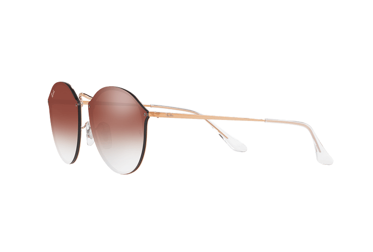 Ray Ban Blaze Round Copper lente Clear Gradient Red Mirror cod. RB3574N 9035V0 59 - Image 2