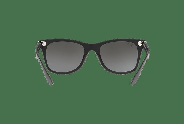 Ray Ban Wayfarer Liteforce Matte Black lente Silver Gradient Mirror cod. RB4195 601S88 52 - Image 6