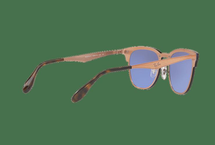 Ray Ban Blaze Clubmaster Brusched Copper lente Blue / Silver Mirror cod. RB3576N 90391U 47 - Image 8