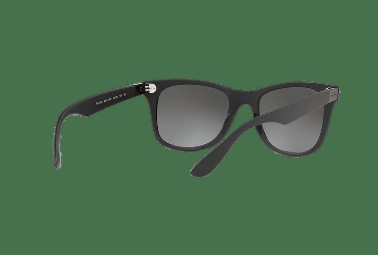Ray Ban Wayfarer Liteforce Matte Black lente Silver Gradient Mirror cod. RB4195 601S88 52 - Image 7