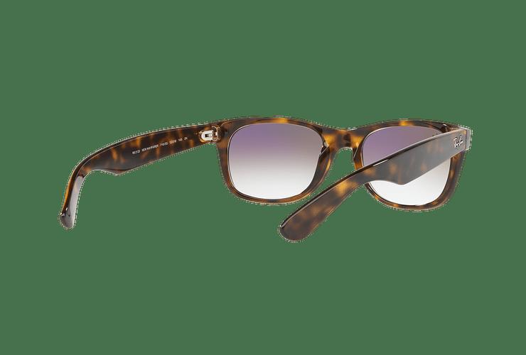 Ray Ban New Wayfarer Havana lente Clear Gradient Violet cod. RB2132 710/S5 55 - Image 7