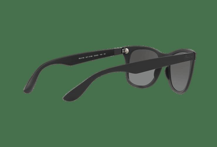 Ray Ban Wayfarer Liteforce Matte Black lente Silver Gradient Mirror cod. RB4195 601S88 52 - Image 8
