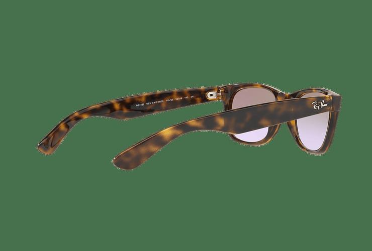 Ray Ban New Wayfarer Havana lente Clear Gradient Violet cod. RB2132 710/S5 55 - Image 8